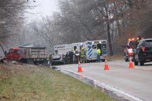 Wreck on State Route 15 near Pleasant Ridge Road