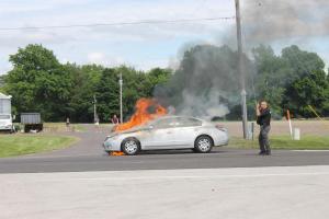 State Street Car Fire