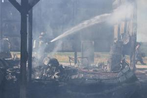 Mascoutah Barn fire