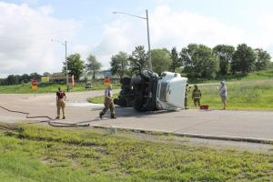 Semi Rollover in New Athens